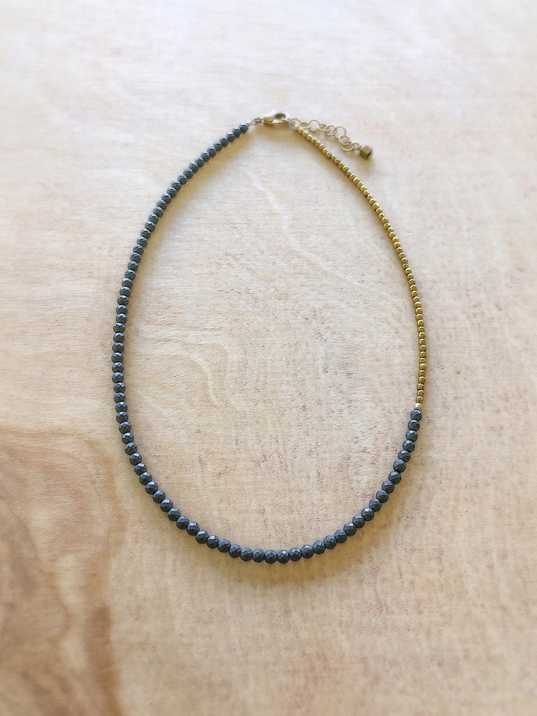 SPLIT NECKLACE- denim
