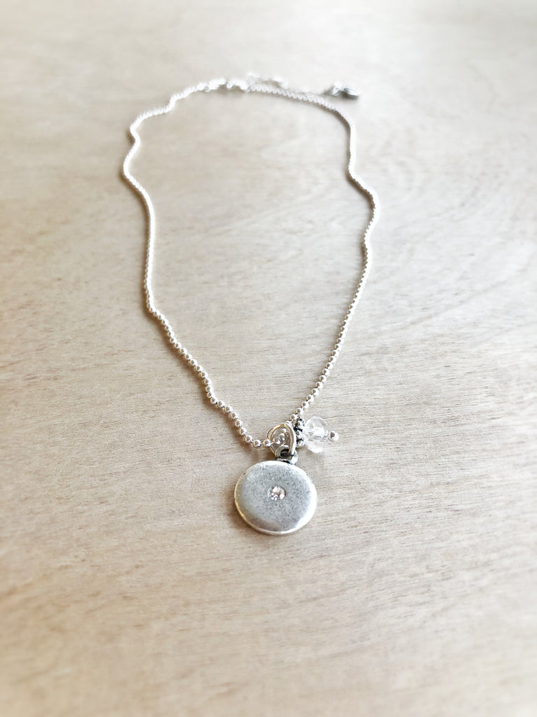 SPARKLE + SHINE necklace silver - Honey + Ice