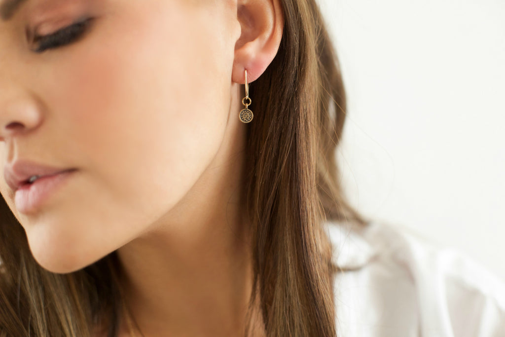 DEW DROP EARRINGS- honey