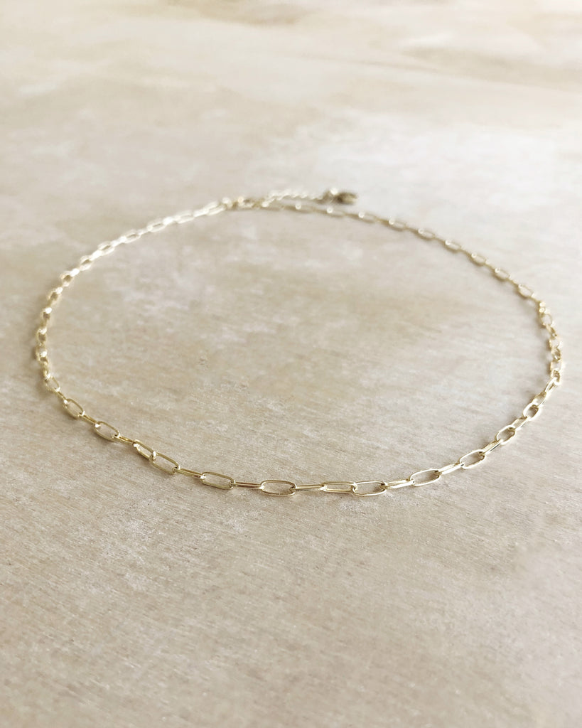 Small LINK layering chain GOLD - Honey + Ice
