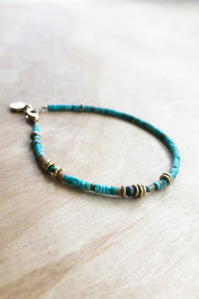 TRUST- turquoise bracelet - Honey + Ice