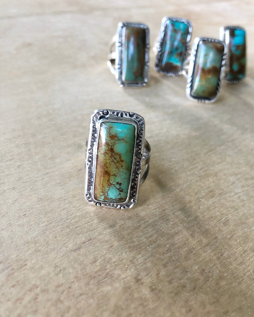 Portrait Turquoise ring #4