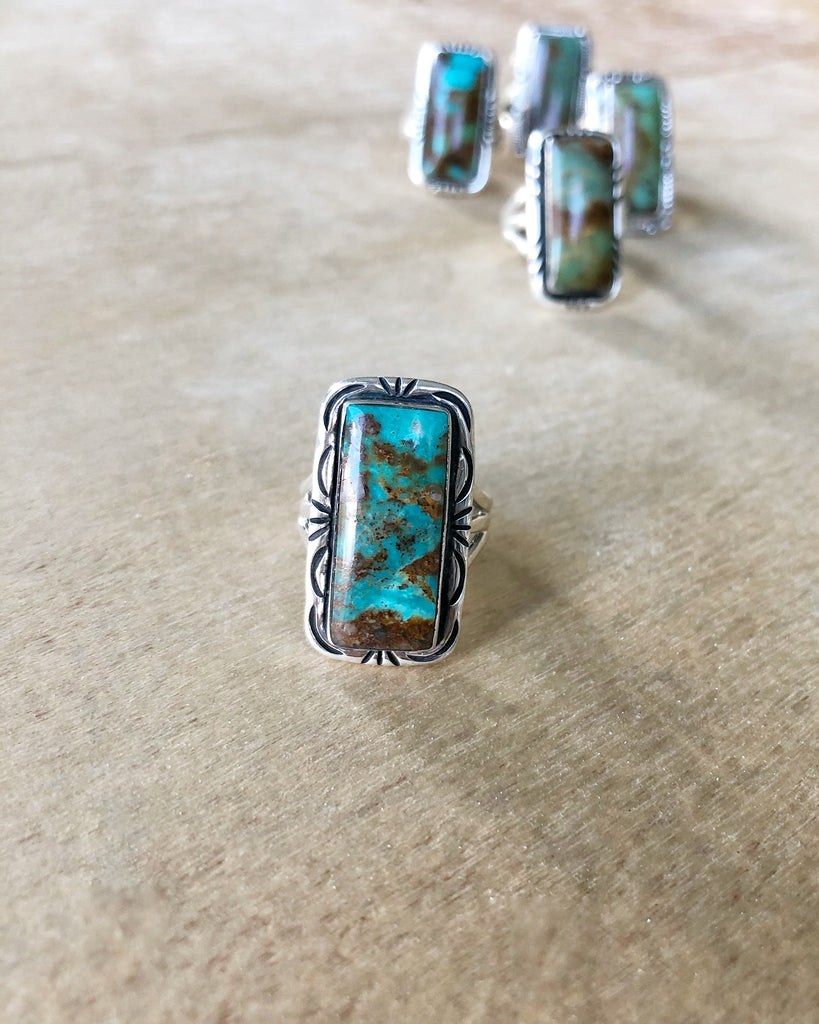Portrait Turquoise ring #3