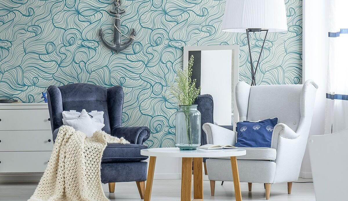 A nautical themed seating area
