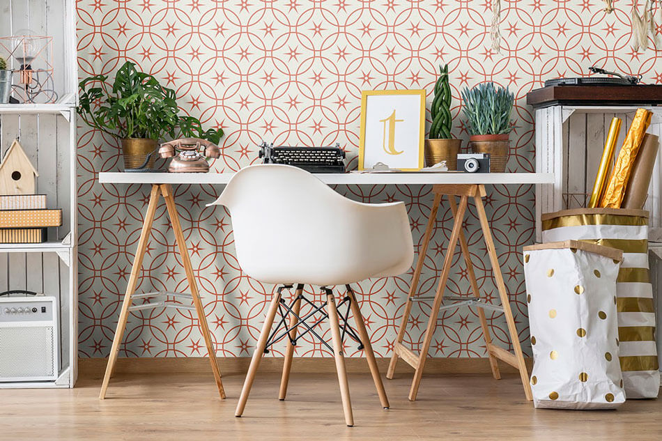 Brown-and-Beige-Geometric-Basic-Fabric-Removable-Wallpaper-2434