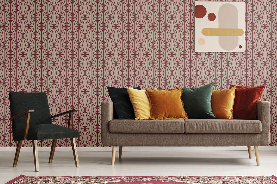 Violet-and-Beige-Diamond-Geometric-Fabric-Removable-Wallpaper-185a