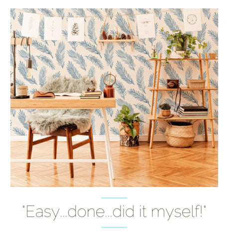 easy and done testimonial on putting removable wallpaper