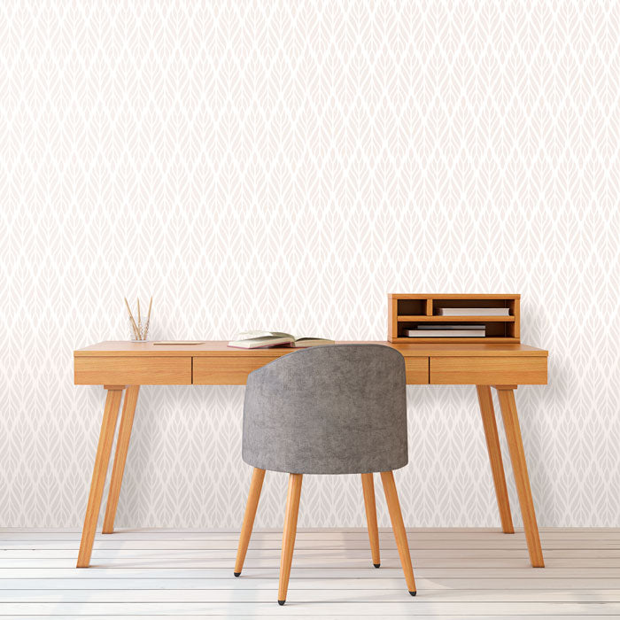 minimalist design work area with geometric basic wallpaper