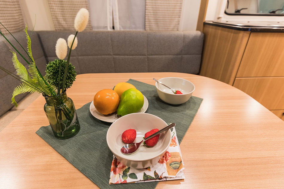 fruits and plants on table
