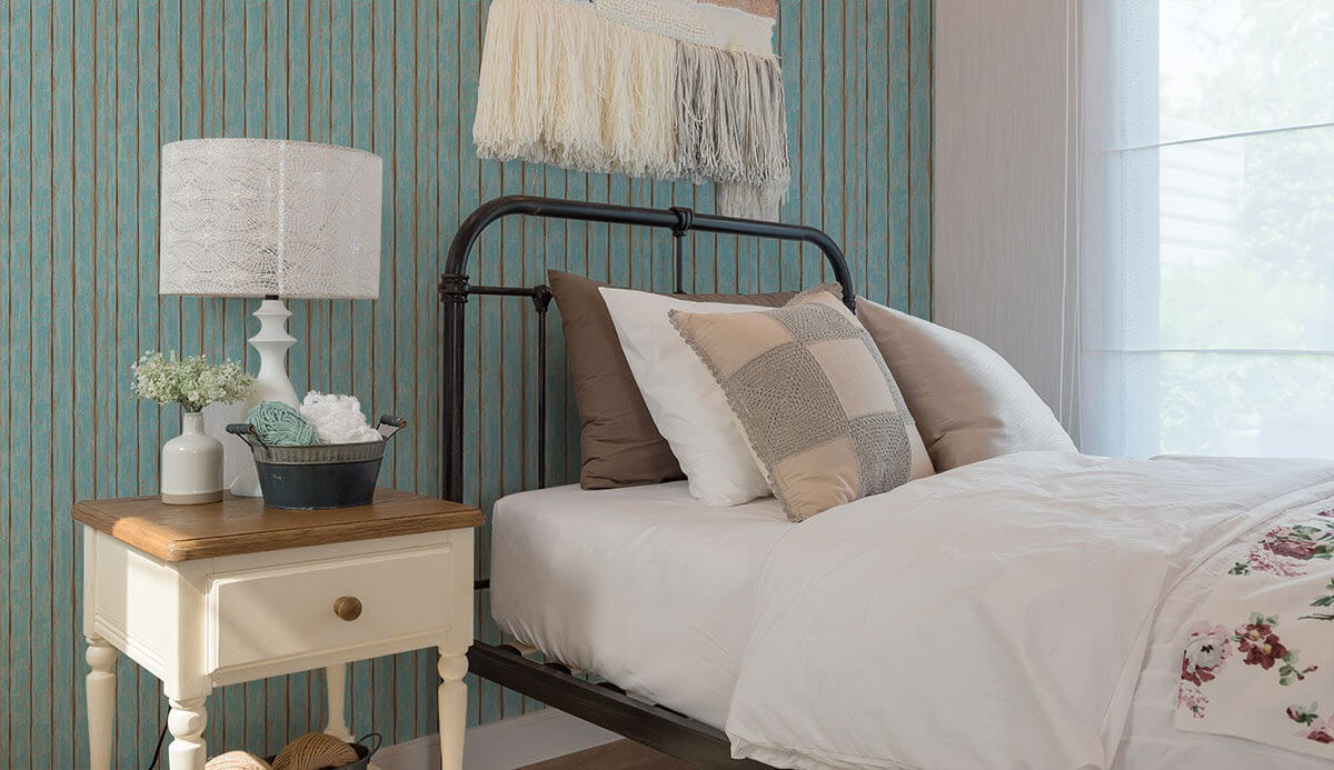 crafted accent wall farmhouse color schemes bedroom