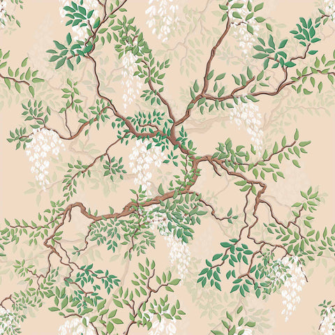 Green Leaves Peel and Stick Removable Wallpaper 2872