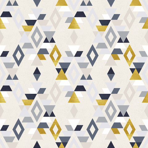 Yellow Triangle Peel and Stick Removable Wallpaper 9171