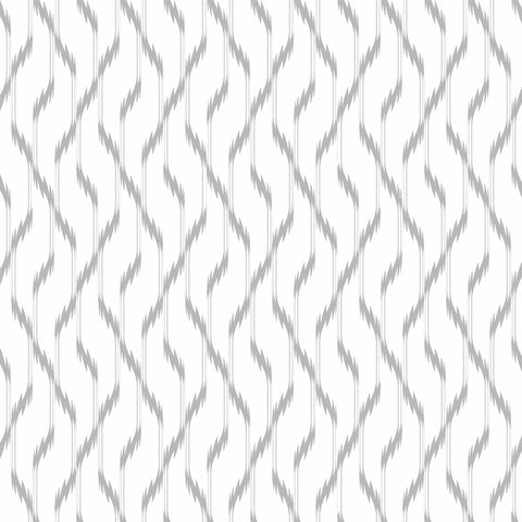 Grey Ikat Peel and Stick Removable Wallpaper 2605