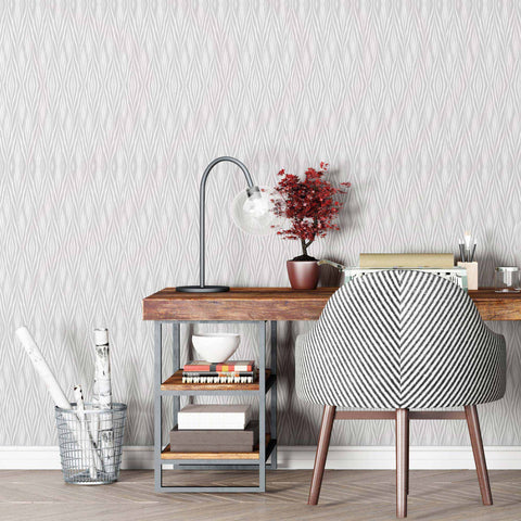 Give your walls a rich, woven look with this gorgeous peel and stick wallpaper. Emulating a diamond-patterned weave in subtle gray tones, this geometric design is layered, complex and unique. Set it up in an instant in any room of the house. Its installation involves no mess, no glue, no paste – just peel and stick the wallpaper onto your wall for some instant natural richness. Accessorize it with woven accents and indoor greenery to craft an informal, eclectic space.