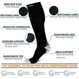 Compression Socks Women Men 20-30mmHg - 57 Pairs Graduated Compression Stockings For Athletic Sports, Running, Medical, Travel 7 Pieces / Box