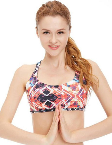 icyZone Sports Bra Sexy Yoga Tops Fitness Activewear Workout Clothes for Women S 1 Piece / Bag
