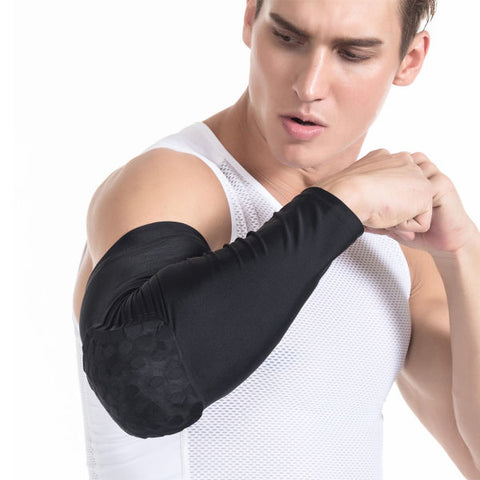 Men Boys Youth Adults ELbow Pad Crashproof Honeycomb Football Softball Cycling Basketball Arm Guard Sleeve Elbow Support Combat Pad Protector Gear Shooting Hand Arm Compression Sleeve 1 Piece / Bag