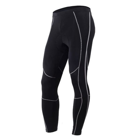 NUCKILY Men's 3D Gel Padded Cycling Compression Tight Spring Autumn Breathable and Stretchable Bicycle Pants 1 Piece / Bag