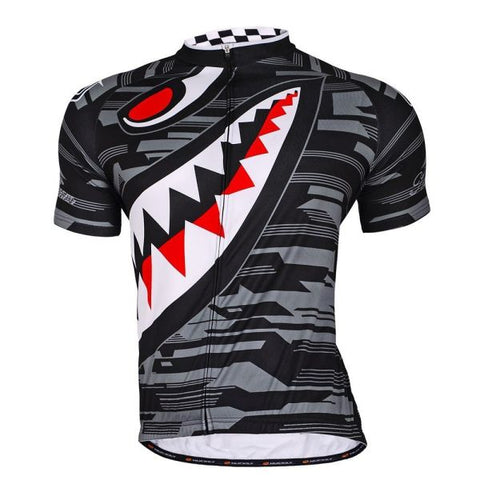 NUCKILY Men's Polyester Sharp Tooth Design Bike Wear Jersey 1 Piece / Bag