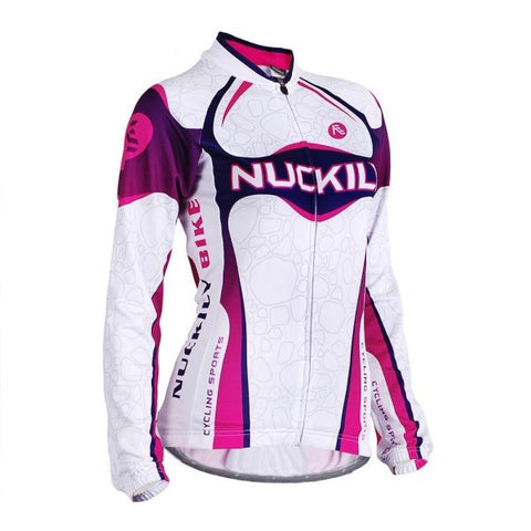 NUCKILY Women's Professional Outdoor Sport Cycling Long Jersey 1 Piece / Bag