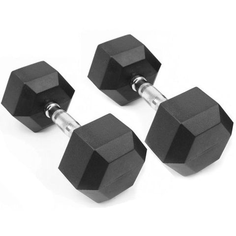 Rubber Hex Dumbbell - 5LB-75LB Sets 60 Pieces / Wooden Case