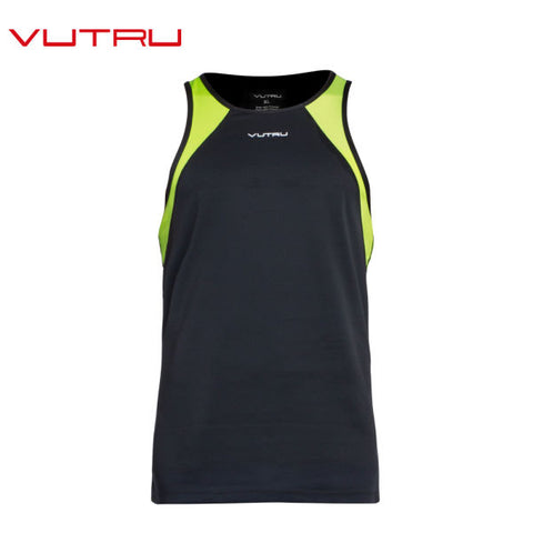 Vutru Men's Jogger Running Vest 100% Polyester ATDRY Breathable Cool Sports Vest V7M1004 1 Piece / Bag