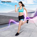 Vutru Women Running Short Indoor Sports Short High Elasticity Sports Cropped Quick Dry Gym Running Capris Fitness V7LE011 1 Piece / Bag