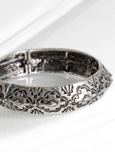 Silver Carved Bangle