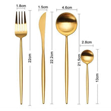 Load image into Gallery viewer, Elemental™ Gold -  Silverware Set