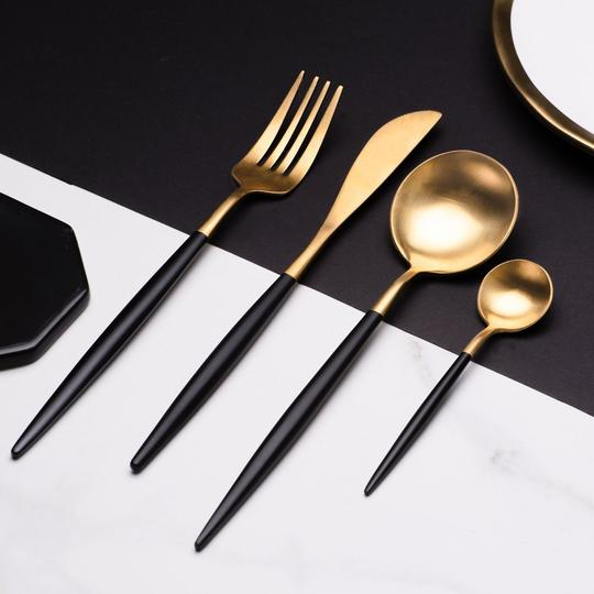 Elemental™ Black -  Silverware Set