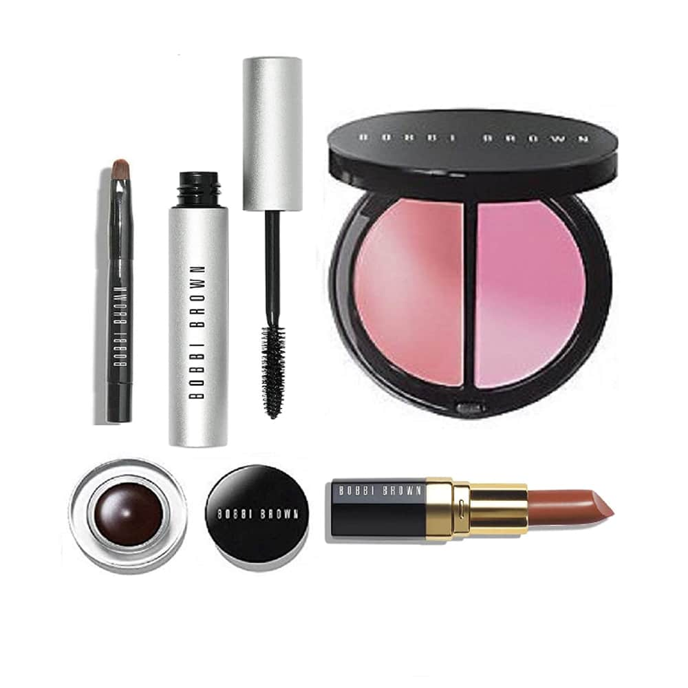 Bobbi Brown Instant Pretty Set: Mascara, Blusher, Lipstick, Gel Eyeliner & Brush