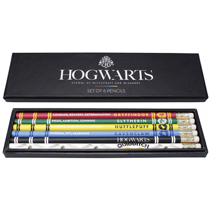 HARRY POTTER HOUSE PRIDE SET OF 6 PENCILS