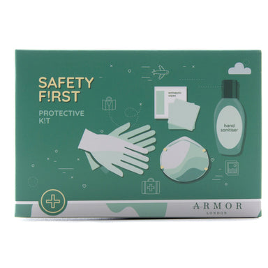 London Safety 1st kit: N95FFP2 Mask, Hand Sanitizer 80ml, 10 PK Anti Bac Wipes, Gloves