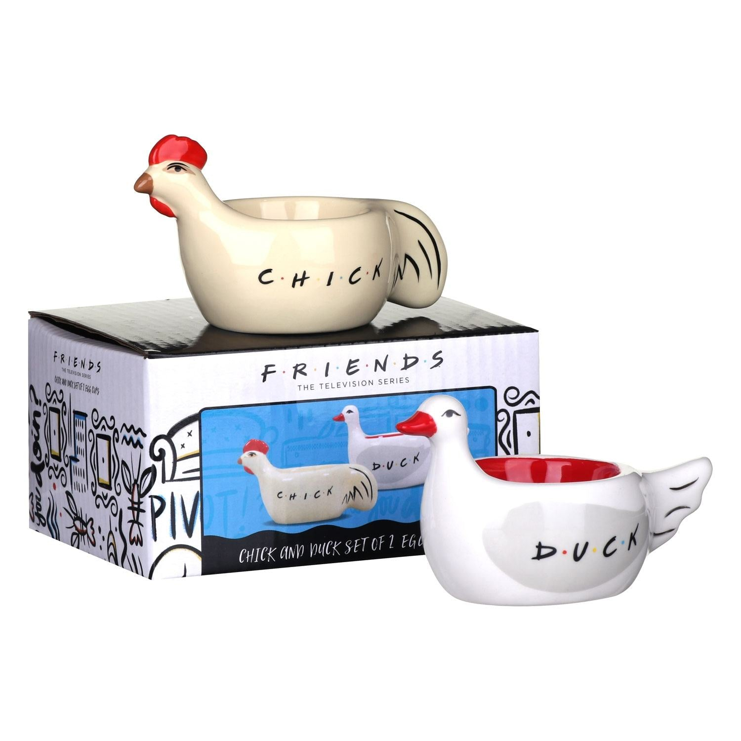 Friends Chick & Duck Egg Cups
