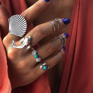 Coastal Boho Ring Set