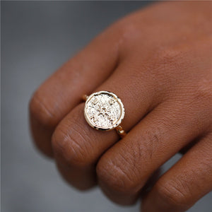 Hammered Wanderlust Vintage Compass Ring
