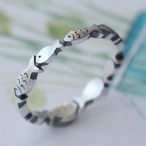 "Island ""Circle of Fish"" Sterling Ring"