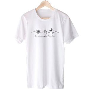 """Leave Nothing But Footprints"" Conservation T Shirt"