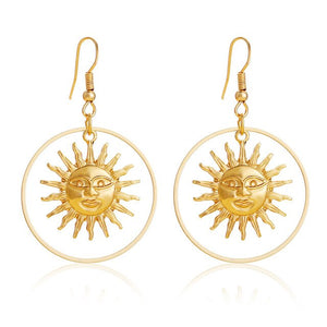 Sun Goddess Drop Earrings