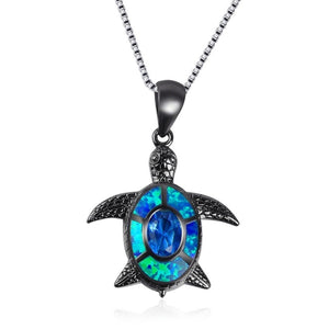 "Blue Fire ""Dusk"" Sea Turtle Necklace"