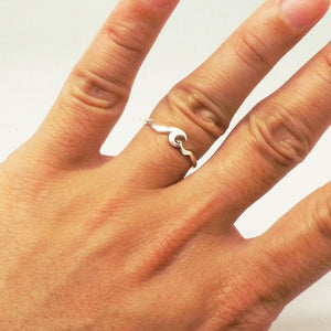 Ocean Wave Band Sterling Ring