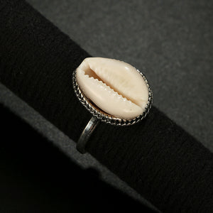 Cowrie Shell Solo Ring