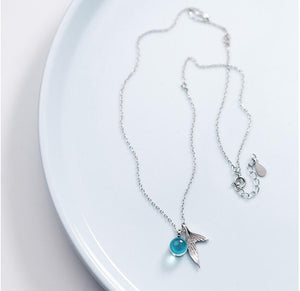 Mermaid Drops Sterling Pendant Necklace
