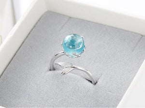 Mermaid Drops Sterling Wrap Ring