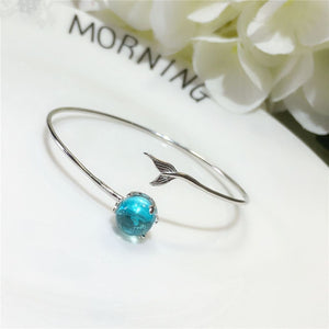 Mermaid Drops Sterling Wrap Bracelet