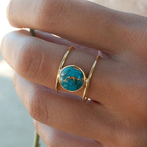 Rustic Ocean Cocktail Ring