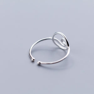 Circle Wave Petite Sterling Ring