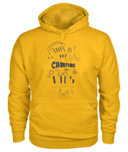 "Load image into Gallery viewer, ""This is my camping with kids  hoodie"""