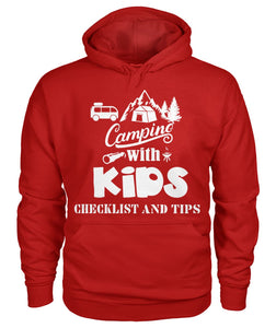 """Camping with Kids Checklist and Tips ""- Hoodie"