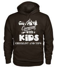 "Load image into Gallery viewer, ""Camping with Kids Checklist and Tips ""- Hoodie"